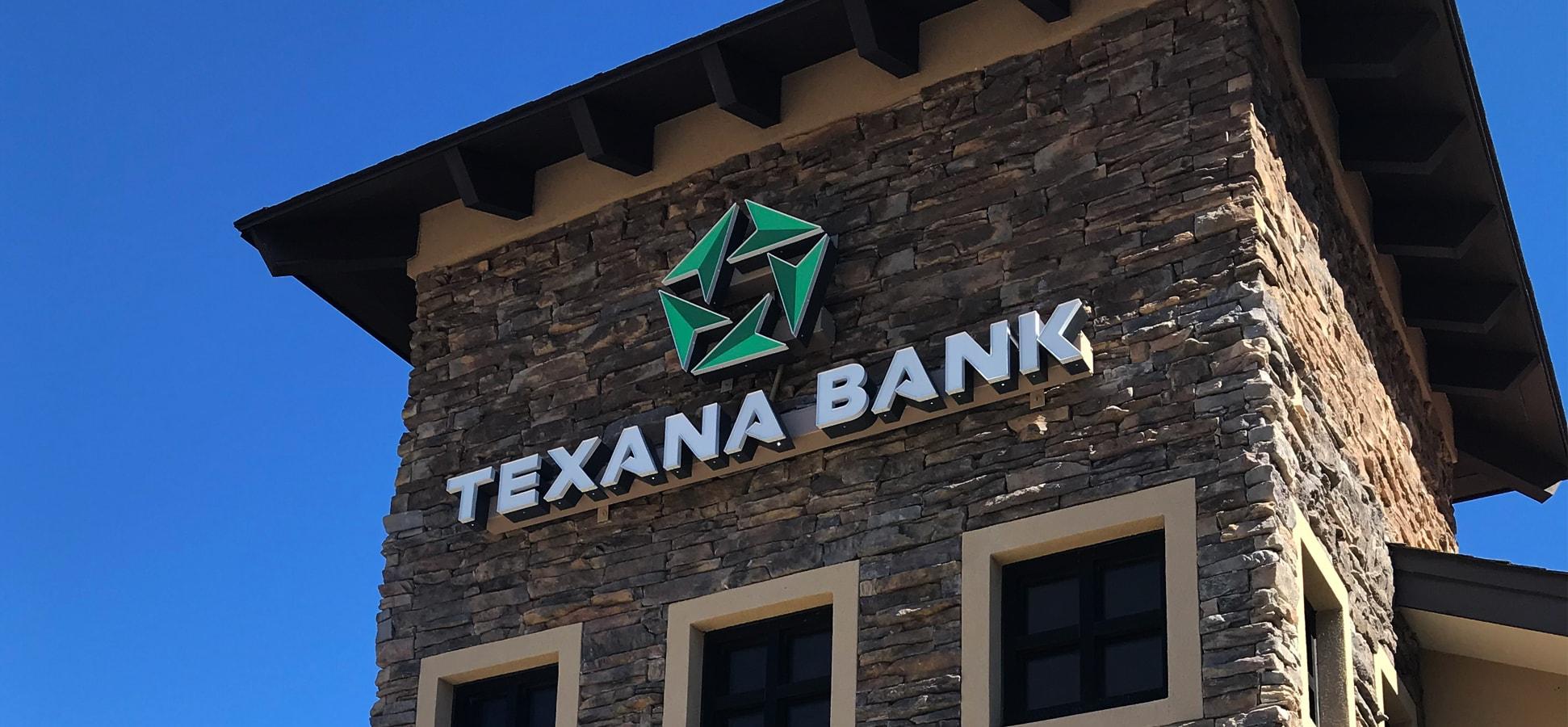 Texana Signage on Building