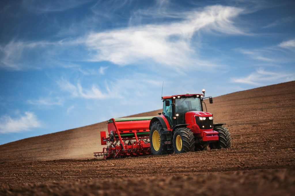 Tractor on Dirt