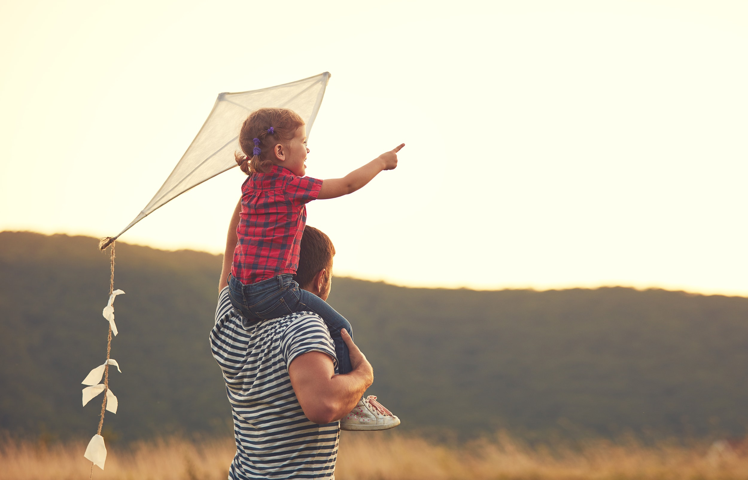 Child Holding Kite